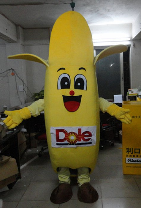 2014 Newest Mascot Rok Country National Banana Cartoon Dolls Cartoon Clothing Dole Bananas Mascot Costume