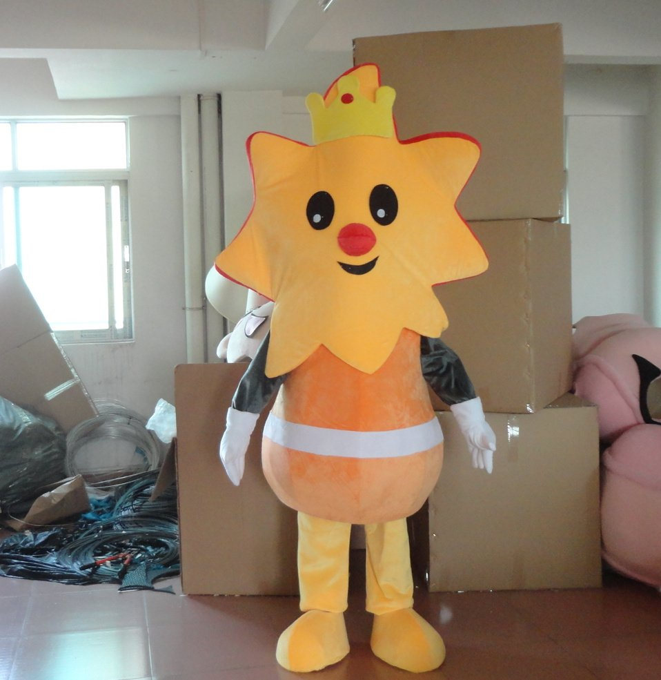 2014 Plant Sunflower Cartoon Mascot Costume To The Japanese Children Books Show Stage Sun Cartoon Dolls Clothing