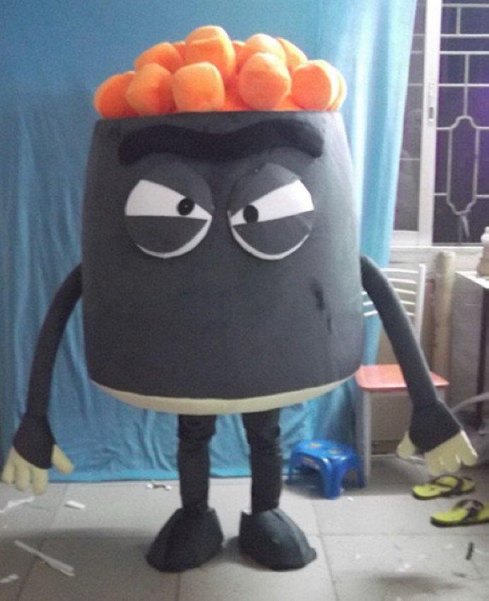 Cartoon Doll Clothing Dishes Food Walking Cartoon Dolls Cartoon Clothing Aberdeen Salmon Mascot Costume