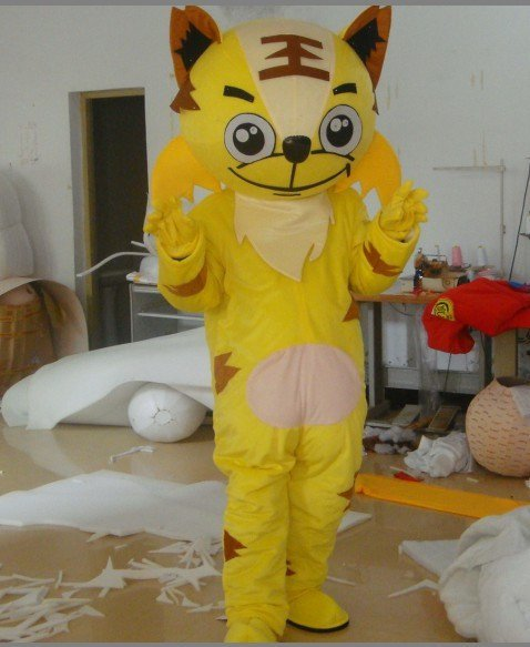 Cartoon Tiger Costumes Performing Props Apparel Advertising Gift Wedding Clothing Mascot Costume