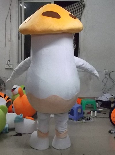 Children Playground Botanical Family Cartoon Dolls White Umbrella Mushroom Fungus Mushroom Pin Tired Cartoon Clothing Mascot Costume
