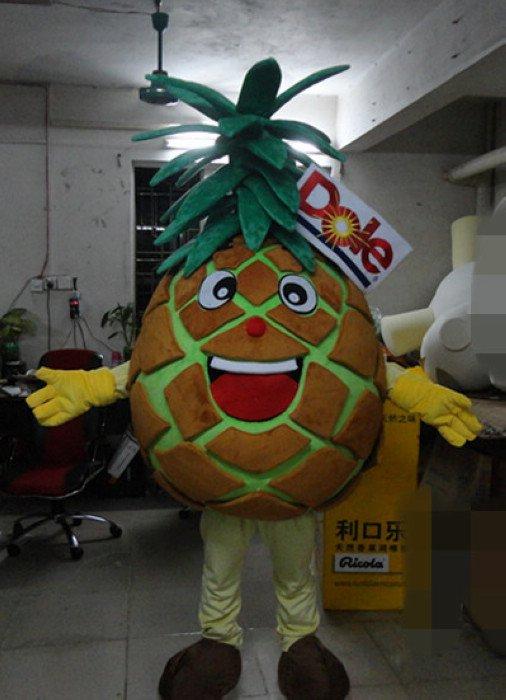 Professional Cartoon Doll Clothing Concavity Leaves Dole Pineapple Cartoon Mascot Dolls Mascot Costume