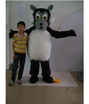 Large Gray La Cartoon Clothing Performance Clothing Stage Props Walking Festive Supplies Wolf Mascot Costume