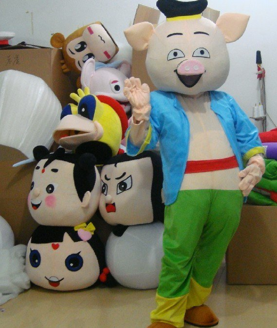 Pig Cartoon Walking Doll Clothing Doll Clothing Clothes Celebration Mascot Costume
