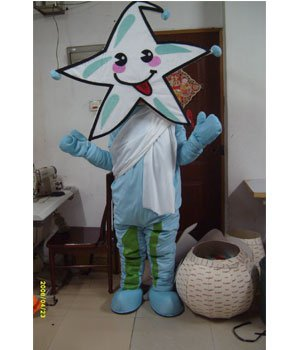 Props Plush Cartoon Costumes Stage Performance Clothing Children Photography Clothing Blue Starfish Mascot Costume