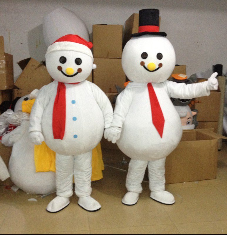 Christmas Snowman Provide Clothes Cartoon Clothing Walking Doll Clothing Mascot Costume