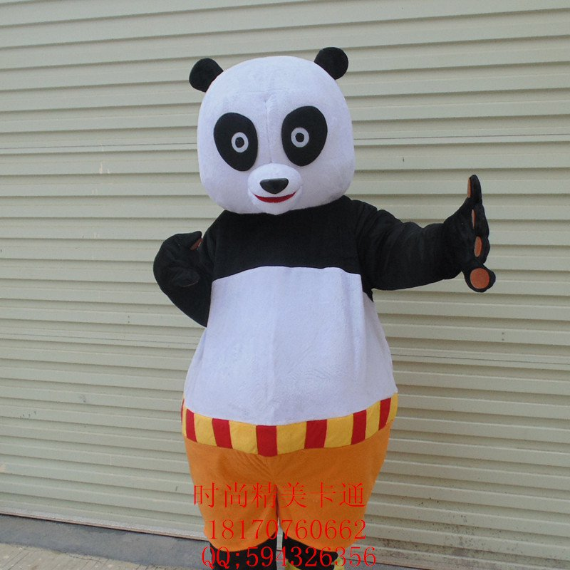Television Cartoon Characters Walking Doll Cartoon Doll Clothing Doll Kung Fu Panda Cartoon Costumes Mascot Costume