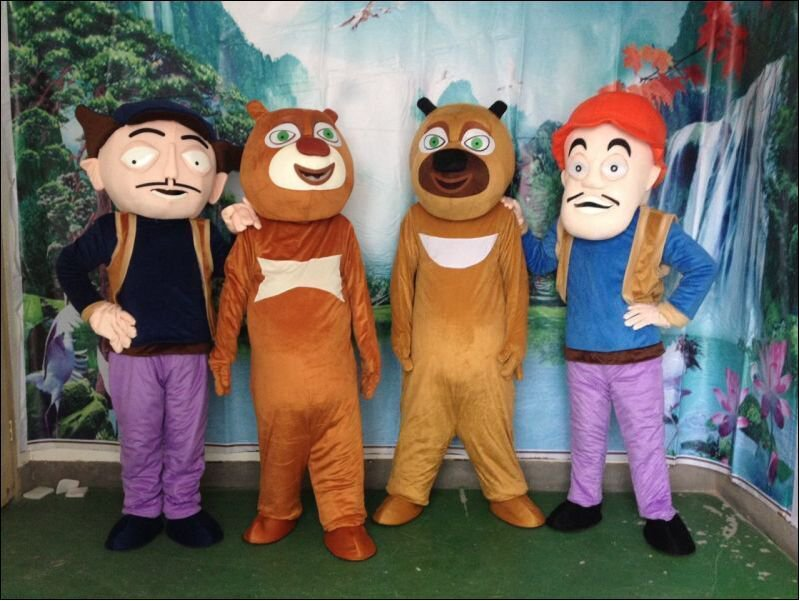 Big Bear Bear Haunt Series Forced To Go Bald Cartoon Clothing Doll Clothes Doll Clothes Cartoon Bear Two Mascot Costume