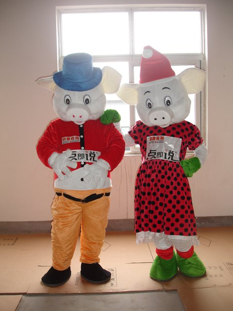 Couples Pig Pig Cartoon Clothing Cartoon Dolls Animal Clothing Siblings Sow Walking Doll Clothing Mascot Costume