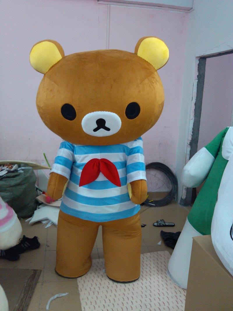 Easily Bear Rilakkuma Cartoon Doll Clothing Doll Clothing Cartoon Walking Doll Clothing Clothes Lazy Bear Mascot Costume