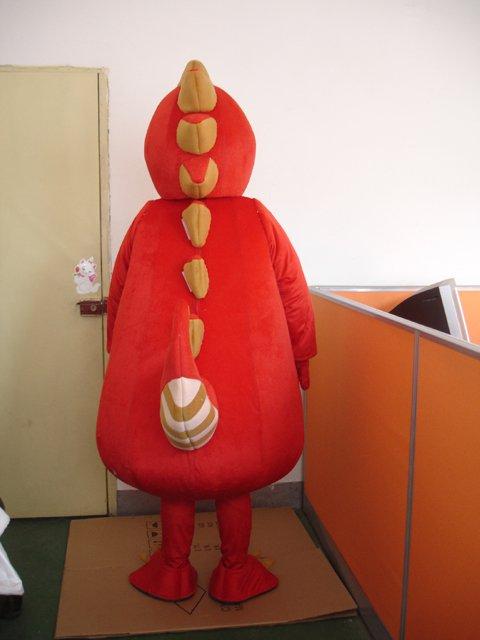 Red Dragon Doll Cartoon Clothing Cartoon Dinosaur Dragon Costumes Adult Walking Doll Clothing Mascot Costume