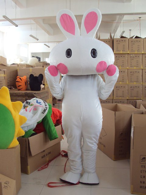 Small Rabbit Bunny Cartoon Doll Clothing Cartoon Show Clothing Apparel Headgear Walking Doll Clothing Mascot Costume
