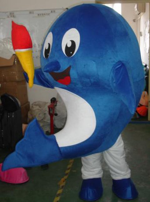 Shanghai Cartoon Blue Whale Sharks Cartoon Doll Clothing Apparel Business Activity Props Mascot Costume