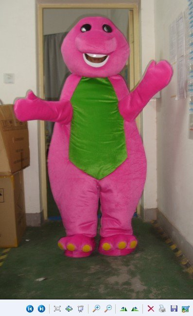 Shanghai Red Dragon Barney Cartoon Clothing Cartoon Costumes Walking Cartoon Dolls Dress Caps Mascot Costume