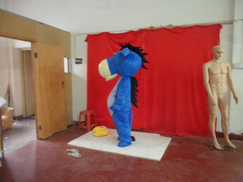Blue Donkey Cartoon Donkey Cartoon Dolls Dolls Walking Clothing Dress Costumes Costumes Mascot Costume