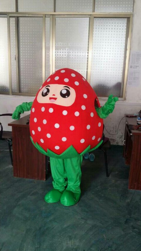 Blueberry Strawberry Dolls Walking Cartoon Dolls Walking Clothing Costumes Performing Props Strawberry Fruit Doll Mascot Costume
