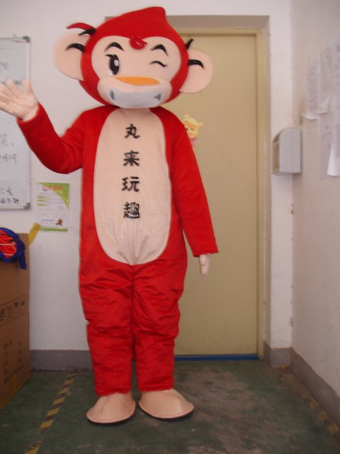 Cartoon Doll Clothing Red Monkey Dolls Walking Clothing Cartoon Inflatable Gorilla Costume Dress Mascot Costume