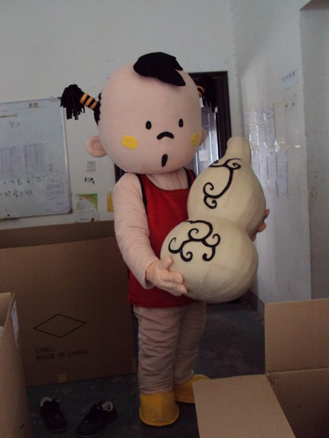 Cartoon Doll Clothing Rental Gourd Movie Costumes Red Boy Cartoon Walking Doll Clothing Mascot Costume