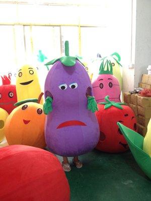 Eggplant Walking Cartoon Doll Clothing Male Mascot Costumes Plush Doll Clothing Vegetables Bulk
