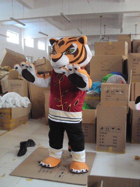 Kung Fu Tiger Cartoon Tiger Costume Dolls Walking Cartoon Tiger Small Props Costumes Mascot Costume