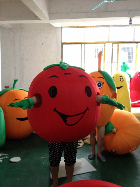 Persimmon Fruit Cartoon Costume Props Costumes Fitted Bulk Walking Doll Mascot Costume