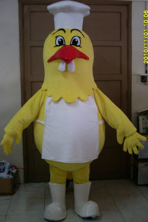 Cartoon Doll Clothing Cook Chicken Hen Rooster Small Yellow Chicken Doll Clothing Cartoon Costumes Mascot Costume