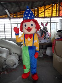 Clown Dolls Walking Clothing Clown Props Stage Costumes Cartoon Clothing Business Activity Headgear Mascot Costume