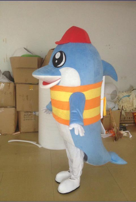 Dolphin Cartoon Costumes Cartoon Doll Doll Cartoon Props Costumes Ocean Walking Doll Mascot Costume