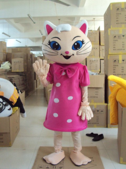 Shanghai Walking Cartoon Doll Clothing Elf White Animal Dolls Cartoon Clothing Doll Clothing Mascot Costume