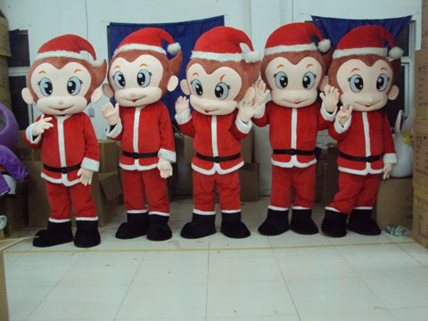 Walking Monkey Doll Clothing Small Monkey Christmas Fashion Festival Japan Anime Doll Cartoon Costumes Props Mascot Costume