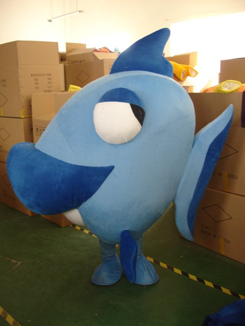 Cartoon Doll Clothing Deep-sea Fish Flounder Dolphins Loaded Walking Doll Clothing Mascot Costume