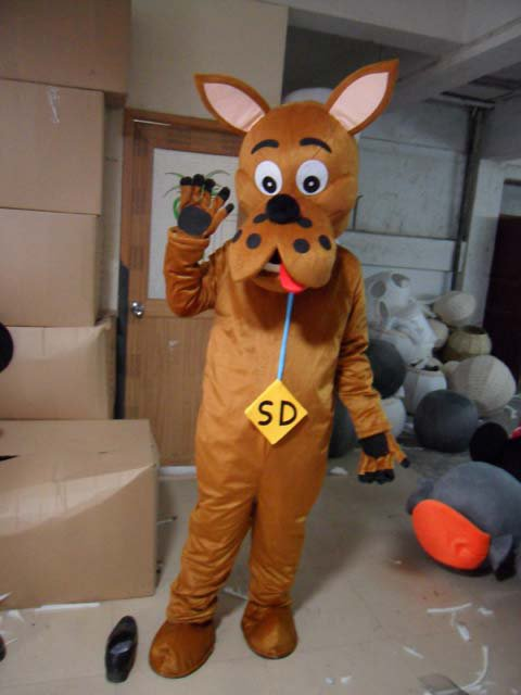 Male Dog Puppy Cartoon Dolls Clothing Apparel Business Promotional Costumes Dress Costumes Mascot Costume