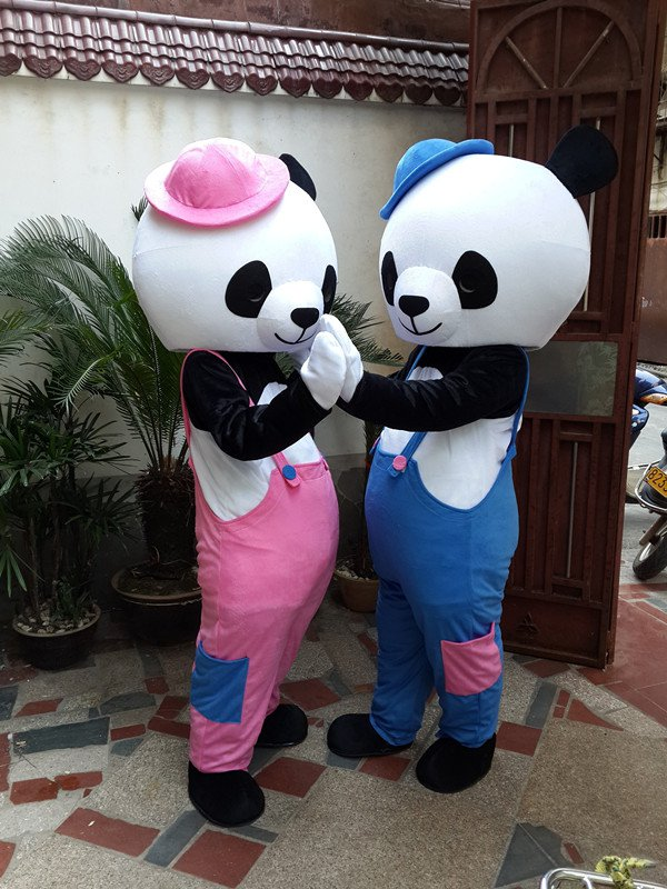 Cartoon Costumes Cartoon Doll Clothing Cute Couple Panda Costumes Panda Costume Wedding Celebration Mascot Costume