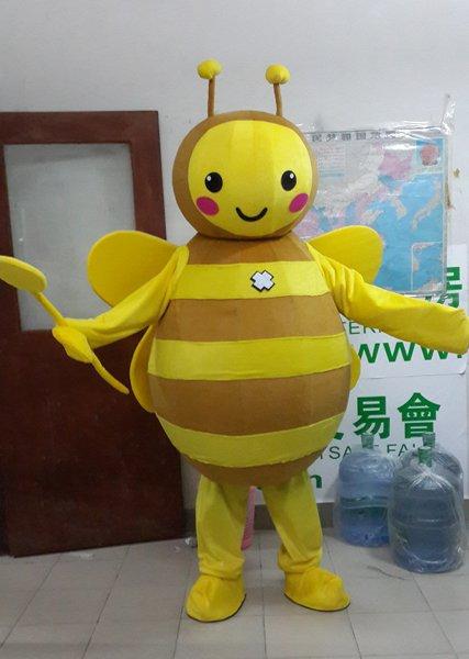 Bee Cartoon Costumes Show Performances Clothing Clothing Clothing Walking Cartoon Bee Honey Mascot Costume
