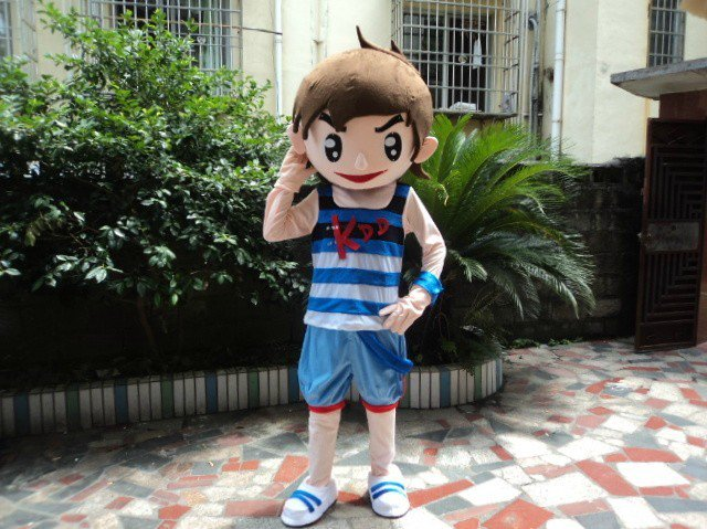 Boy Cartoon Walking Doll Clothing Stage Props Mounted Doll Clothes Mascot Costume