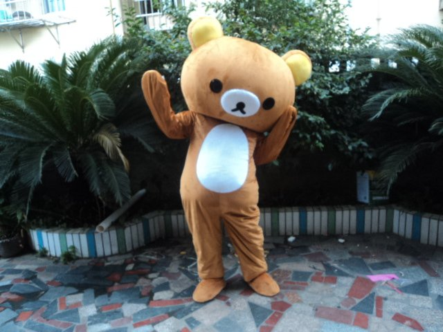 Japan The Lazy Bear Toy Advertising Cartoon Doll Clothing Adult Clothing Walking Performances Doll Clothing Relaxed Bear Mascot Costume