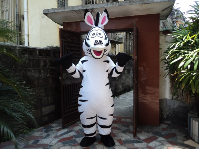 Cartoon Doll Clothing Walking Cartoon Props Madagascar Adult Zebra Zodiac Animal Mascot Mascot Costume