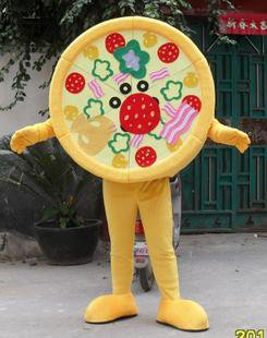 Cartoon Dolls Walking Cartoon Traded Food Mascot Costumes Performing Promotional Performances Pizza Bread