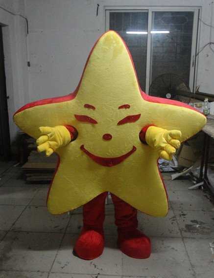 Walking The Red Five-pointed Star Star Plush Costumes To Wear Headgear Person Walking Big Props Cartoon Dolls Doll Clothing Mascot Costume