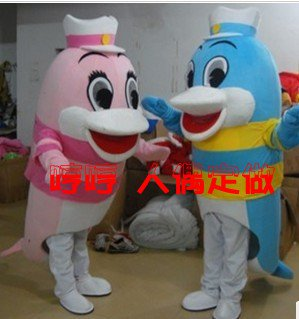 Benthic Fauna Show Props Doll Clothes Aquarium Hood Covered His Face Walking Cartoon Dolls Clothing Dolphins Mascot Costume