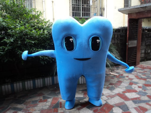 Performing Cartoon Doll Clothing Walking Card Child Adult Theatrical Costume - Dental Props Mascot Costume