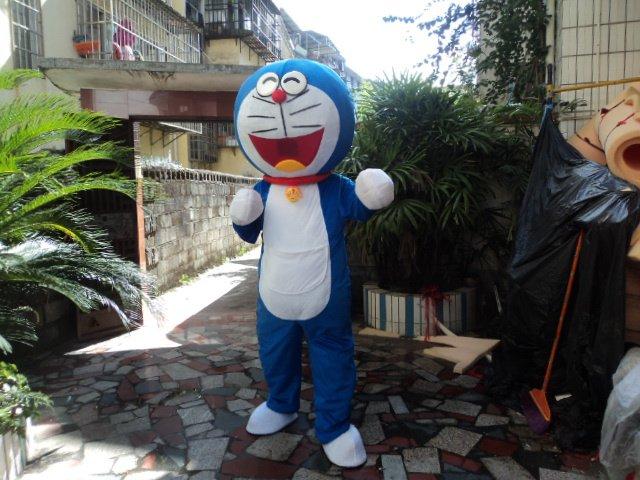 Cartoon Dolls Plush Dolls Doll Show Props Pocket Cat Costume A Dream Jingle Cat Doraemon Mascot Costume