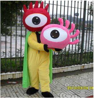 Large Wear Adult Man Walking Cartoon Mascot Doll Activities Dress Costumes Sina Logo Modeling Clothing Mascot Costume