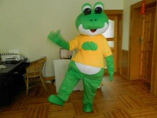Animal Cartoon Cartoon Dolls Clothing Apparel Plush Toys Doll Large Eyes Frog People Wearing Hoods Mascot Costume