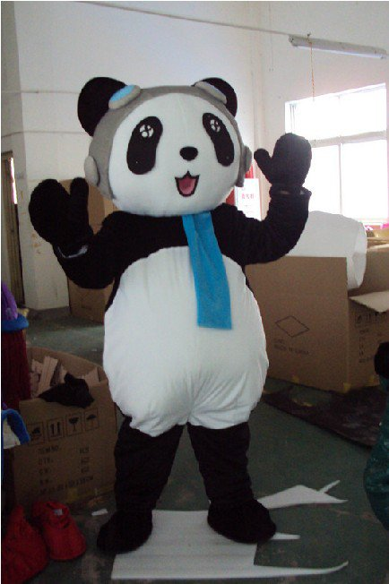 Cartoon Doll Clothing Adult Modeling Service Activities Show Costumes - Kung Fu Panda Bear Mascot Costume