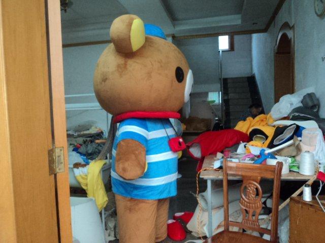 Cartoon Doll Doll Clothing Cartoon Show Clothing Costumes Easily Bear Lazy Bear Rilakkuma Headgear Mascot Costume