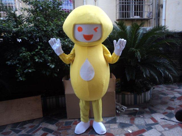 Plush Doll Clothing Cartoon Clothing Clothes Adult Activities Walking Performance Costumes Fruit Lemon Headgear Mascot Costume