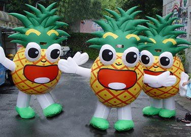 Adult Cartoon Doll Costume Dress To Wear People Walking Cartoon Props Costumes Clothing Pineapple Fruit Pineapple Mascot Costume