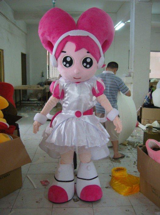 Bear Mascot Costume Cartoon Dolls Plush Doll Lovers Wear Female Clothing People Walking Activity Headgear