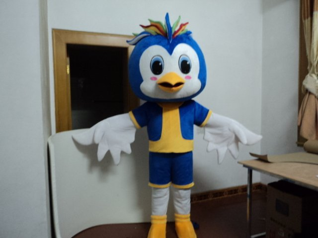 Cartoon Doll Clothing Can Walk Mascot Cartoon Costumes Performing Blue Bird Wearing Doll Clothing Mascot Costume